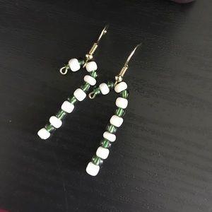 Earrings, grew. Christmas earrings